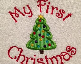 My 1st Christmas tree bib