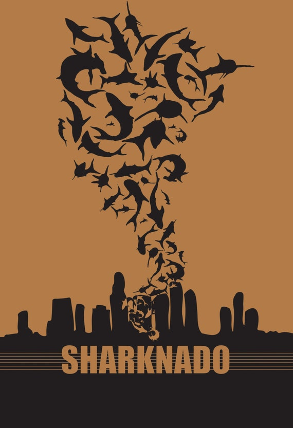Sharknado Alternative Movie Poster 7.5 x 11 by ...
