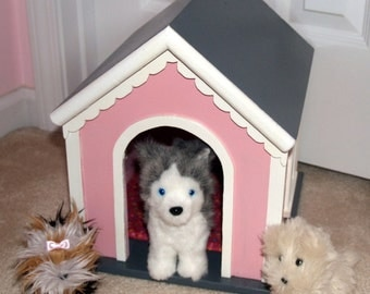 Dog Pet House for American Girl Type Pets or Stuffed Animals