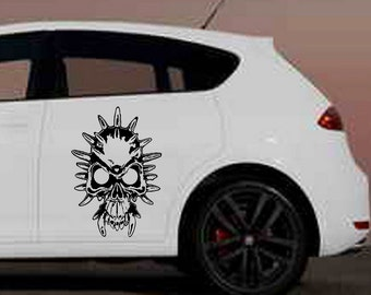 Skull Devil Demon Decal // sticker wall art car graphics room decor // corrosion of conformity // coc // zombie emo goth gothic metal AA64