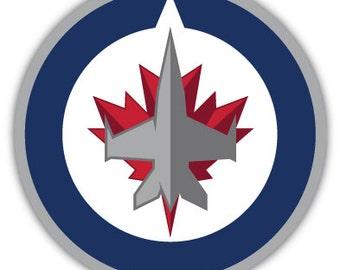 "Winnipeg Jets NHL Hockey sticker decal 4"" x 4"""