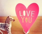 LOVE YOU night light in PINK