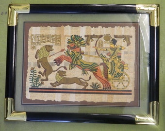 "Franklin Mint The Tutankhamun Papyrus Treasure Trove Framed 24"" x 31"""