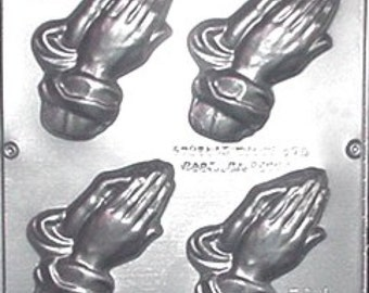 Large Praying Hands Chocolate Candy Mold Religious 403