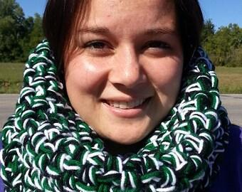 Four color cowl scarf