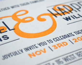 The Big Ampersand - Letterpress Wedding Invitations