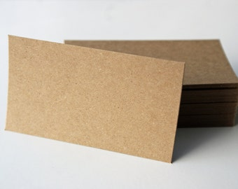 Blank business cards set of 100 thick card kraft craft kraft brown bag paper blank business card 35 x 2 set of 40 reheart Gallery