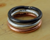Fine Silver Ring Set - Copper Ring - Ring Band - Customize Your Ring - Wedding Band - For Man, Woman & Child!