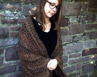 Women's Barley Crochet Oversized Sweater/Shawl