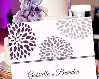 """Printable Thank You Card Template """"Petal Burst"""" Purple & Plum   Editable Word Instant Download    ALL COLORS AVAILABLE   You Print"""