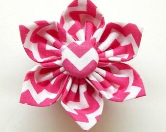 Dog Flower - Pink Cotton Candy - Chevron