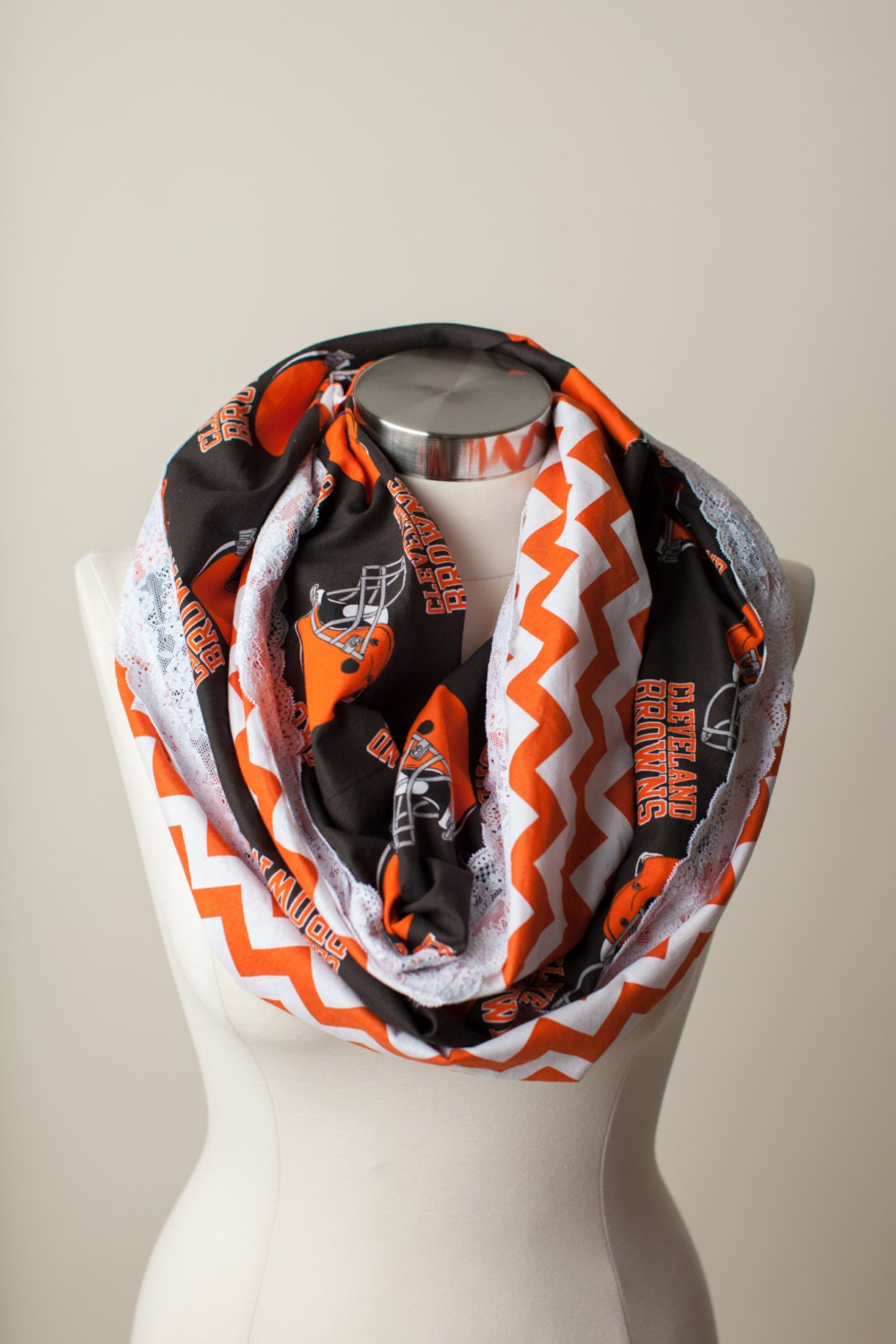 cleveland browns nfl infinity scarf by thriftygirldesign