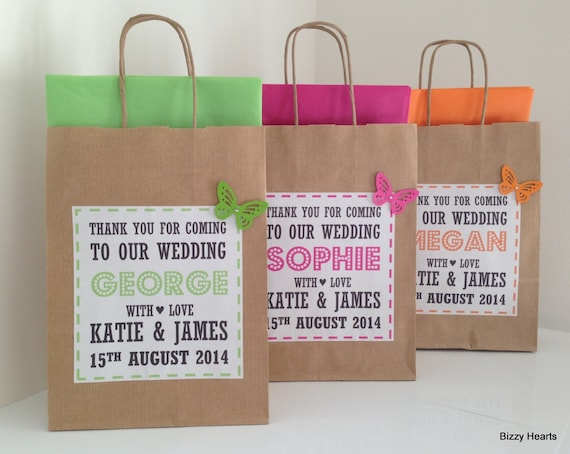 Personalised Wedding Gift Bags Uk : Wedding Gift Bag / Wedding Favour / Personalised