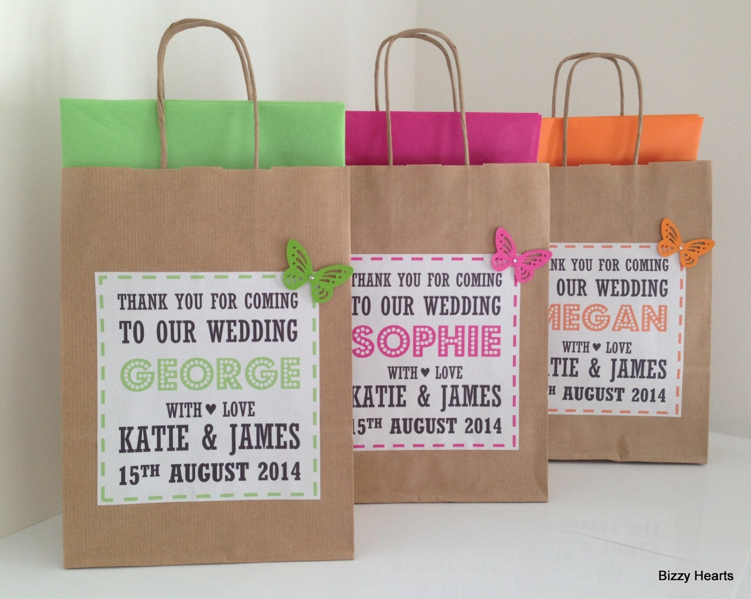 Wedding Gift Personalised: Wedding Gift Bag / Wedding Favour / Personalised