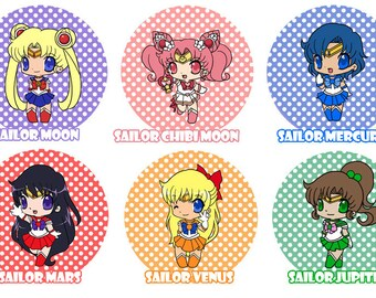 Sailor Moon - Buttons