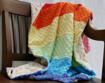 Rainbow Minky Quilt