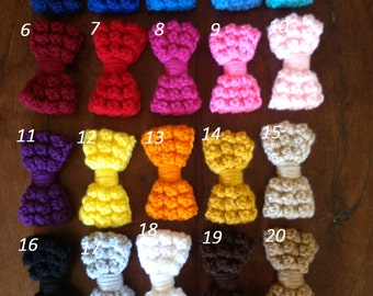 "Crochet Hair bows 4"" X 2"""
