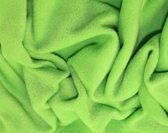 "Lime Green - Polar Fleece Fabric - Metre/Half - Anti Pil - 59"" (150cm) wide"