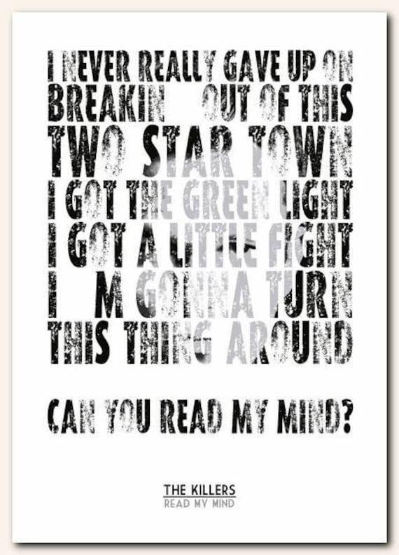 you read my mind lyrics the killers: