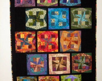 Spinning Squares Art Quilt