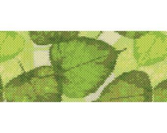 Leaves Peyote Cuff Beaded Bracelet Pattern