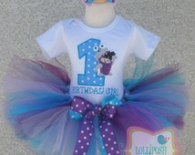 Monsters Inc Boo Birthday Tutu -Personalized Birthday Tutu,Sizes 6m - 14/16