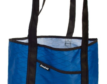 Flowfold Tough Beach Bag Porter Simple Tote Handmade in USA // Navy Blue