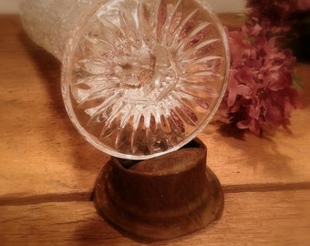 Beautiful Vintage Crystal Glass Vase (((free shipping)))