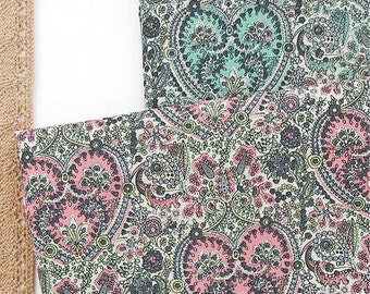 Oxford Cotton Fabric Paisley Heart