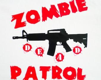 Zombie Patrol Gun T-Shirt   Zombie T-Shirt   U.S. Custom Ink