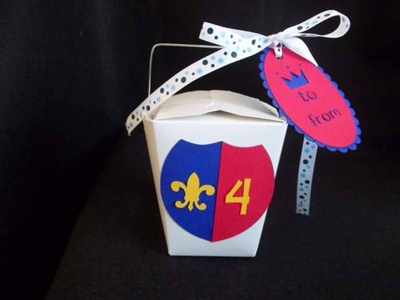 Party Favor Chinese Take Out Boxes : Knight s shield chinese take out favor boxes