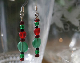 Red & Green Christmas Dangles