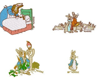 Peter Rabbit Embroidery Designs - PES