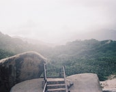 Tayrona Jungle (Colombia) - Fine Art, Analogue/Film Photography - Nature, Beach, Mountain, Sky, Green, Fog, Grey