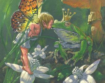 "The Frog Prince 8""x10"" Fine Art PRINT"
