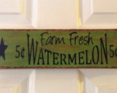 Wooden Sign, Summer Sign, Watermelon Sign, Country Sign, Primitive, Kitchen Sign, OFG team, FAAP