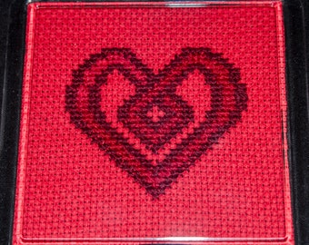Celtic Cross Stitch Heart Pattern