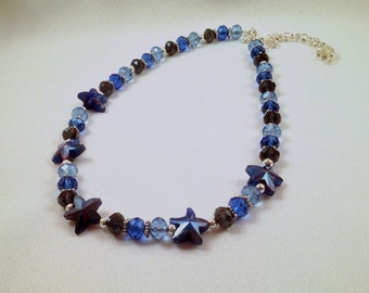 Starry Starry Night … 22-inch Necklace with Blue Crystals