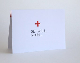 Get Well Soon Greeting Card // Get well soon... [Inside: ...faker.]