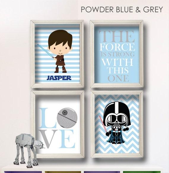 Baby Boy Star Wars Nursery Art Boy Room Decor Star Wars