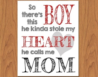 So There's This Boy Wall Art Nursery Print 8x10 Matte Finish (42)