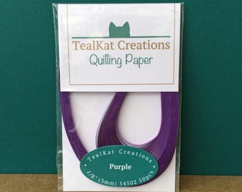 Purple Quilling Paper