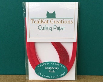 Raspberry Pink Quilling Paper