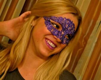 Glitter Mardi Gras Mask