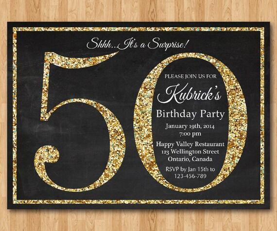 spesso invito compleanno 50 . Invito festa di compleanno Glitter NR86