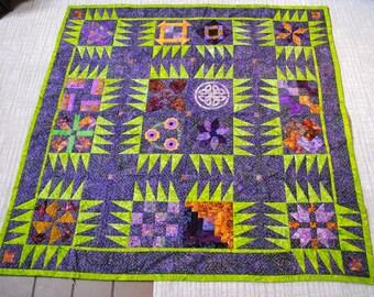 Purple polka dot quilt