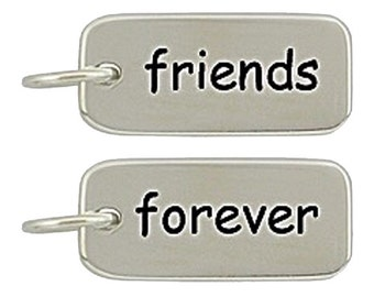 Sterling Silver Friends Forever Necklace Bracelet  Charm