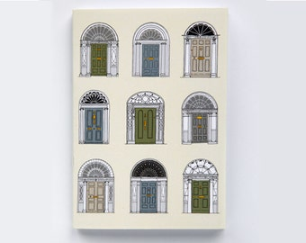 Irish Georgian Doorways Notebook (Chalk)