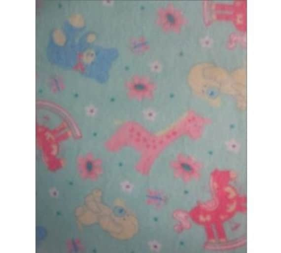 Items similar to baby toys fleece fabric by the yard on etsy for Children s flannel fabric by the yard