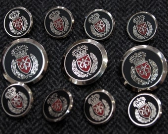 High Quality Silver Blazer Buttons Set for suit jacket, blazer, or sport coat